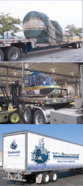 truck trailers with unusual loads, 3PL solutions logo